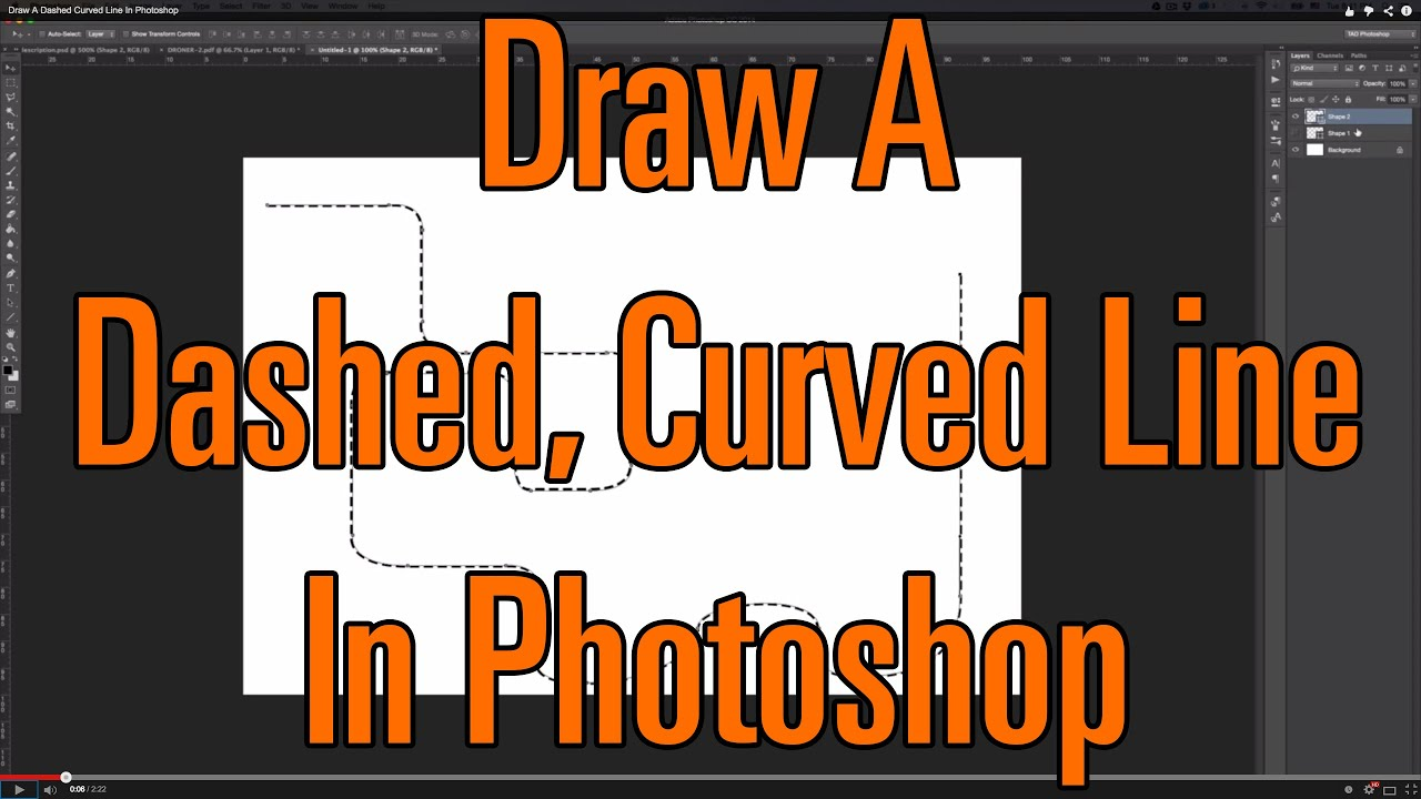 Drawing A Dotted Line In Gimp : Draw a dashed curved line in photoshop youtube