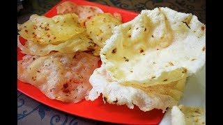 बिना धूप में सुखाये बस 1 ही दिन में बनायें चावल के पापड़  |Chawal ke papad how to make rice papad