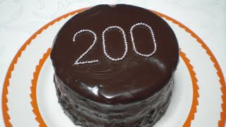 200th video! Chocolate Cake Thumbnail