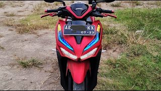 Modifikasi alis all new Vario biar makin manis ( stiker alis )