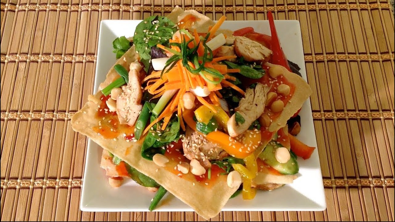 Grilled chicken luau salad recipe how to make the for Aloha asian cuisine
