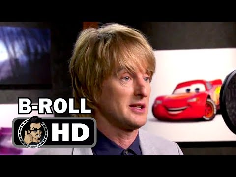 CARS 3 Voice Cast B-Roll Footage ft. Owen Wilson (2017) Lightning McQueen Pixar Movie HD