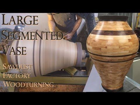 Woodturning - Very Large Segmented Vase