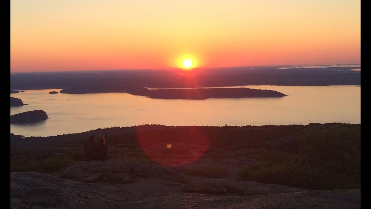 Cadillac Mountain Bar Harbor Maine Sunrise On July 12th