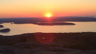 Cadillac Mountain, Bar Harbor, Maine Sunrise on July 12th, 2014