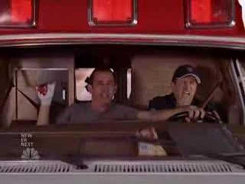 Scrubs - Lloyd drives an ambulance