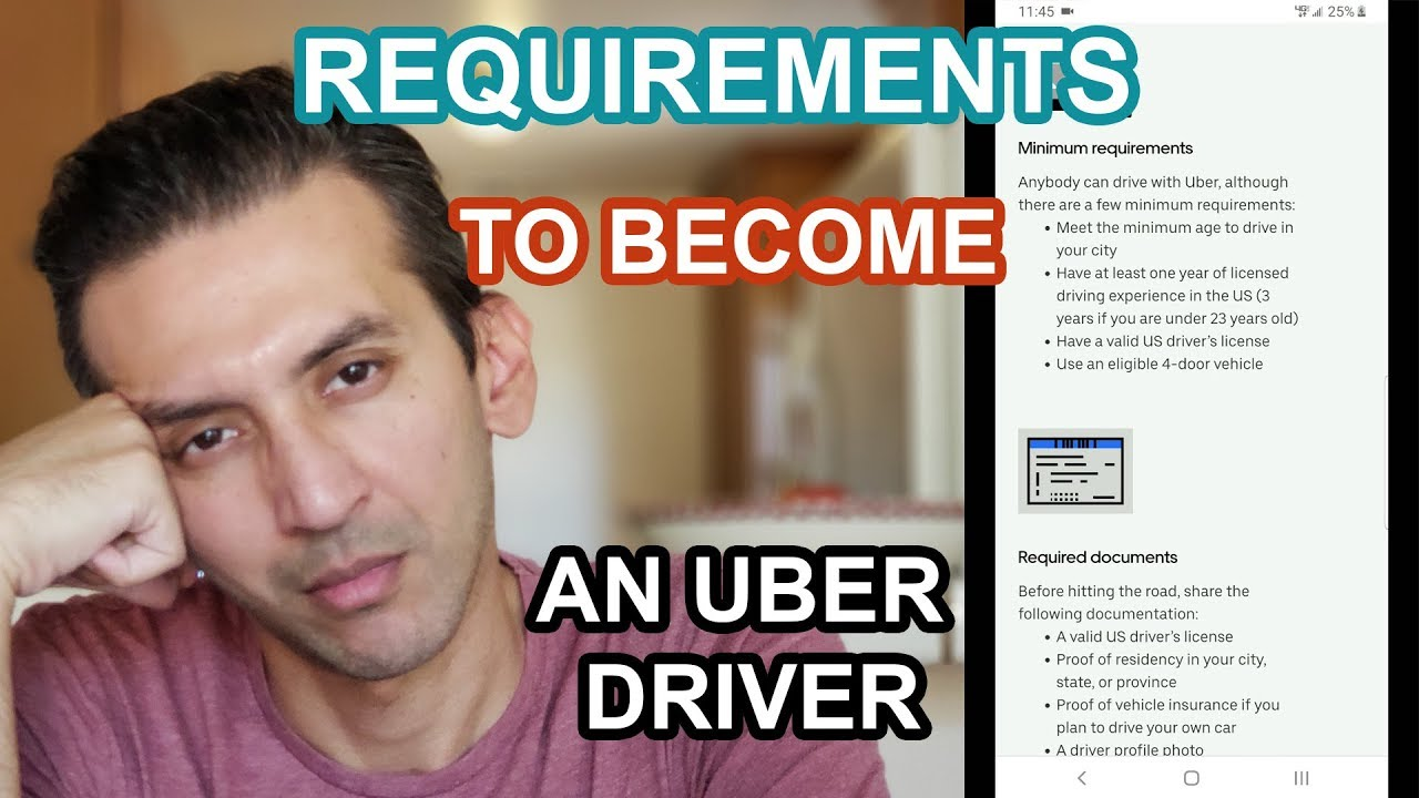 What are the requirements to become an Uber Driver?