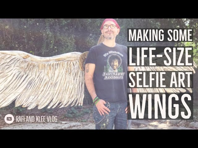 Making Some Life Size Selfie Art Wings