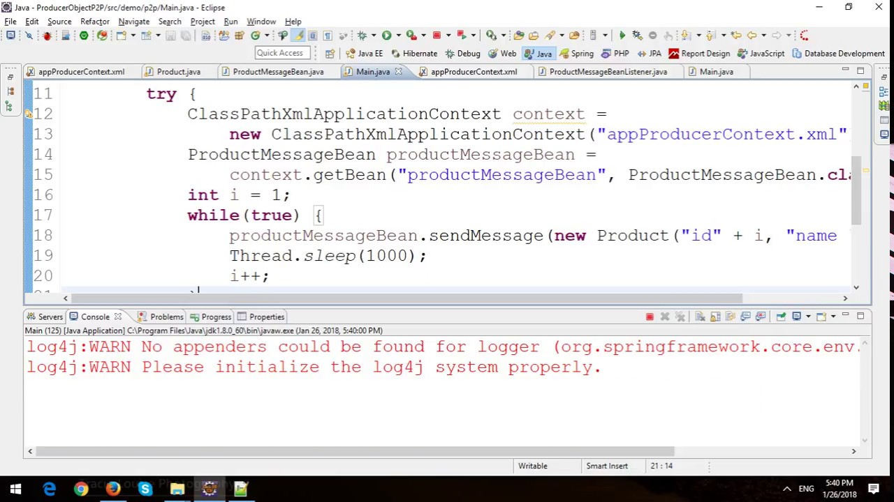 Sending and Receiving Object Messages with Point to Point (P2P) in Spring  JMS