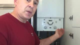 How to repressurise refill a combi boiler central heating system.wmv