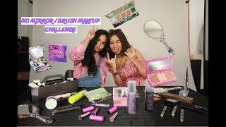 No Brush No Mirror Makeup Challenge | Kilafairy