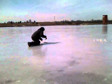 Ice fishing in kansas youtube for Kansas out of state fishing license