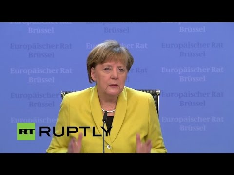 LIVE: Merkel to give briefing on EU-Turkey refugee crisis de