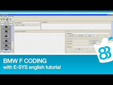 BMW F Coding with E-SYS english tutorial
