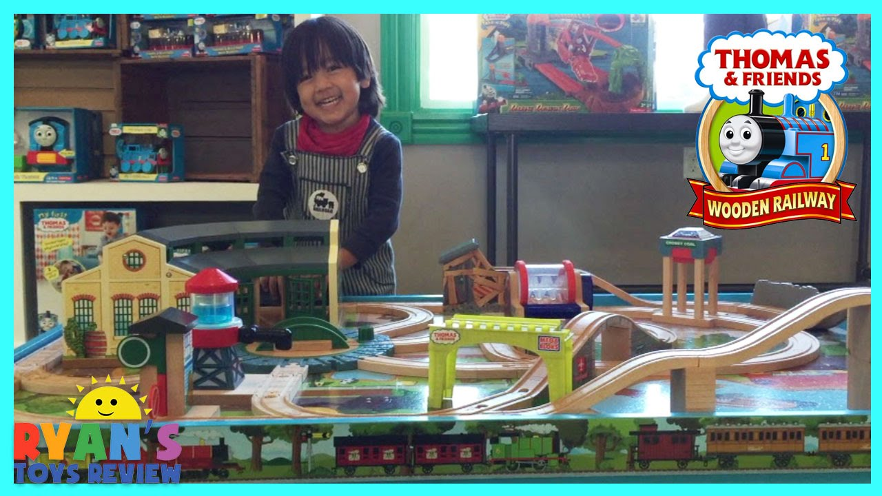 Thomas and Friends Wooden Railway Play Table Toy Trains for Kids Ryan ToysReview - YouTube & Thomas and Friends Wooden Railway Play Table Toy Trains for Kids ...