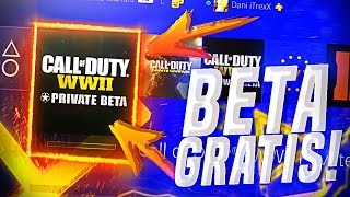 BETA PRIVADA GRATIS DE COD WW2! - METODOS DEFINITIVOS PARA XBOX ONE, PS4 y PC!