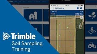 À l'aide de Grilles pour l'Échantillonnage de Sol   de Formation Mobile   Trimble Software Ag