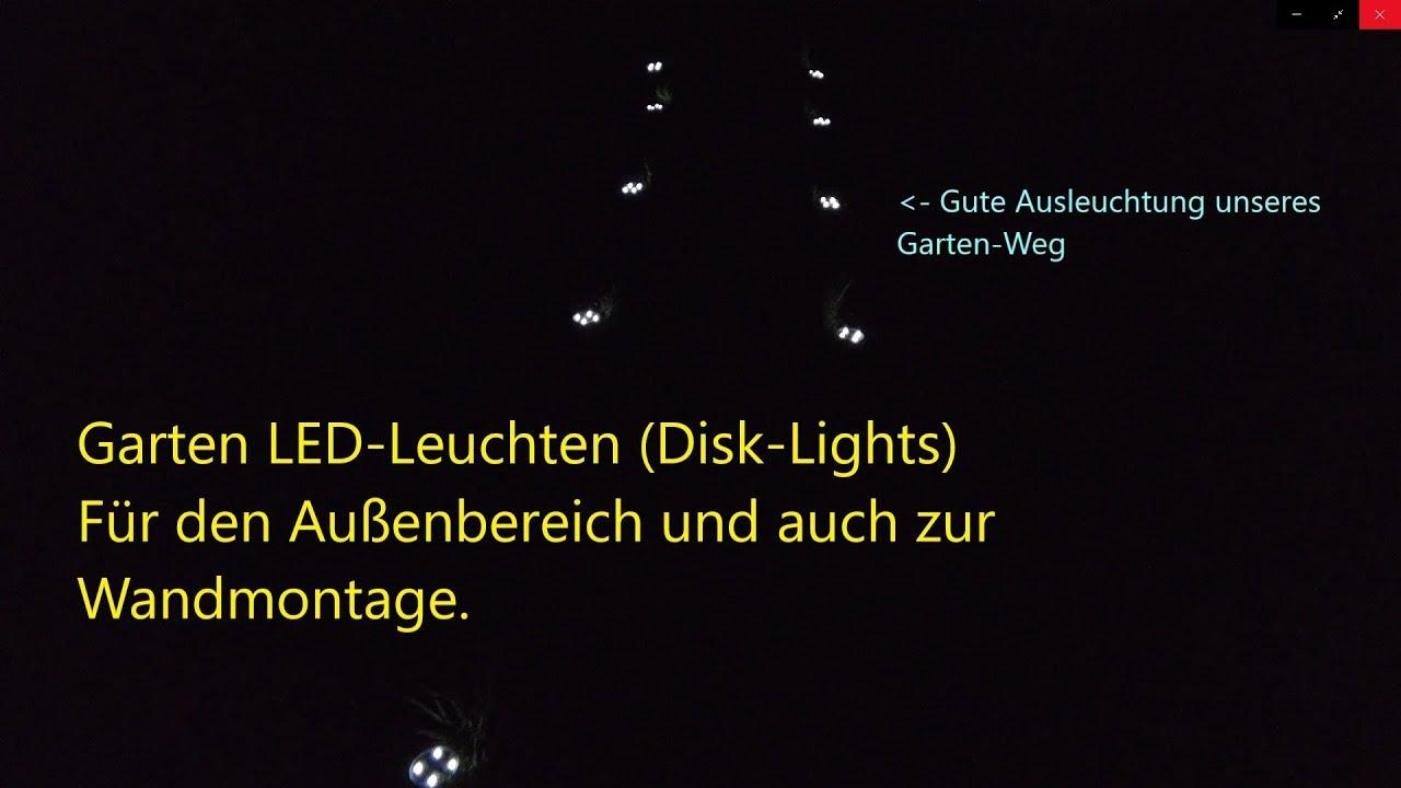 Mediashoptv Disk Lights Wegbeleuchtung 600mah Akku Austauschbar Erdspieß Etwas Instabil