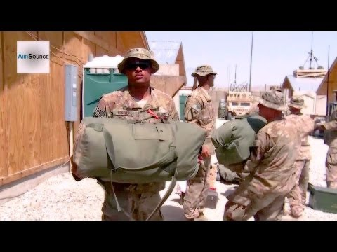 Army Soldiers Packing Up Bags for Redeployment