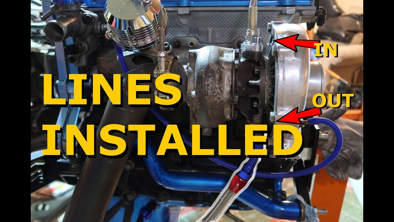 Turbo Oil Feed and Return Lines - 420A Eclipse 2G Project