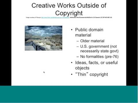 Open Licensing and Creative Commons