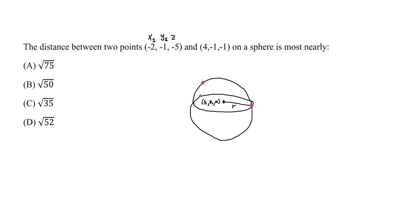 FE Exam Practice - Analytic Geometry - Sphere Standard ...