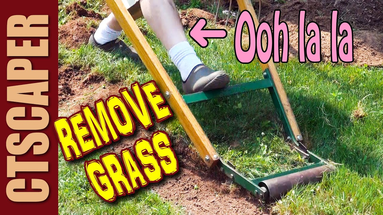 how to remove grass youtube