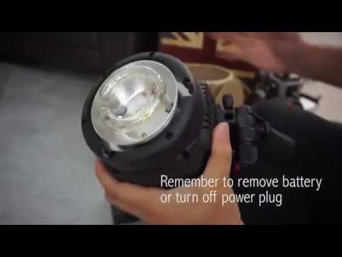 How to change a studio light flash tube