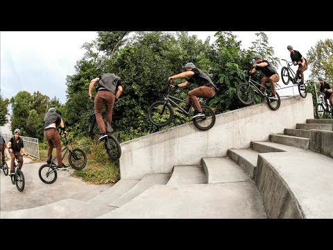 Garrett Reynolds - Unreal BMX street riding