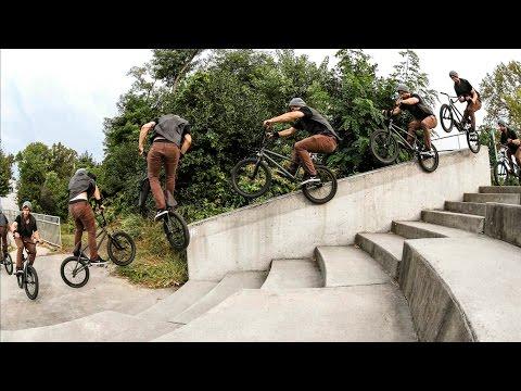 Garrett Reynolds - Unreal BMX street riding
