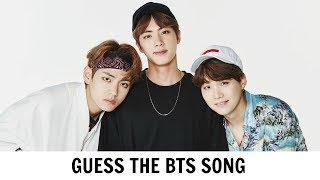 GUESS THE BTS SONG BY IT'S FIRST 5 SECONDS