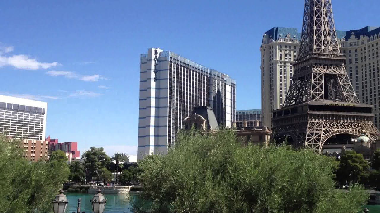 Bellagio Las Vegas 360 Degree View From Ground Level Outside The Hotel