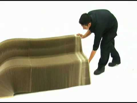 Slinky Chair Made From Recycled Cardboard Youtube