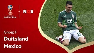 WK Voetbal 2018: Samenvatting Duitsland - Mexico (0-1)