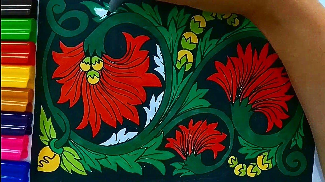 Menggambar Ragam Hias Flora Desain Motif Batik Flora Bunga Youtube