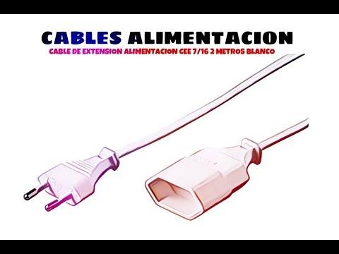 Video de Cable de extension alimentacion CEE 7/16 2 M Blanco