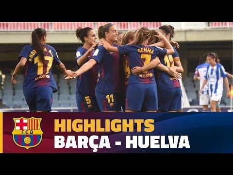 [HIGHLIGHTS] FUTBOL FEM (Lliga): FC Barcelona – Sp. Huelva (3-0)