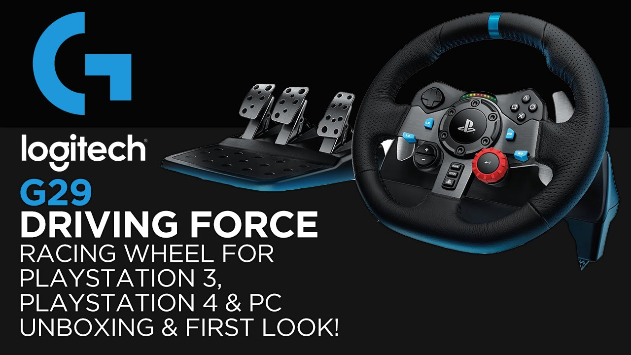 c08a16a5e0f Logitech Gaming G29 Driving Force Racing Wheel Unboxing & First Look! (For  PS3, PS4 & PC)
