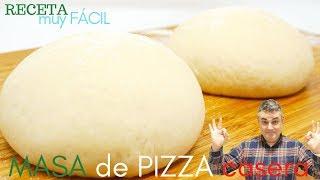 🍕🍥MASA de PIZZA CASERA (básica)🍥🍕, haz tu pizza en casa