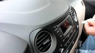 Hyundai i10 Audio Project Original Factory OEM Radio Fascia Removal