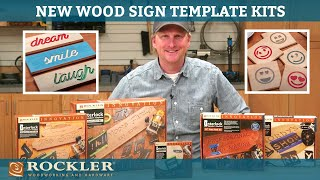 Making Wood Signs with Rockler Router Templates