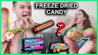 Eating Freeze Dried Candy PART 2! Starburst, Gummy Worms, SweeTarts and more