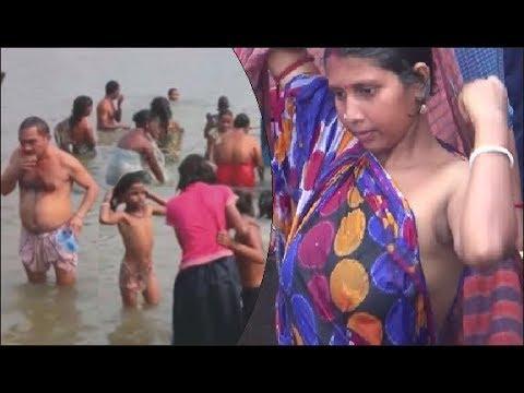 Ganga snan : कार्तिक पूर्णिमा पर स्नान के लिए गंगा के घाटों पर उमड़ा जन सैलाब thumbnail