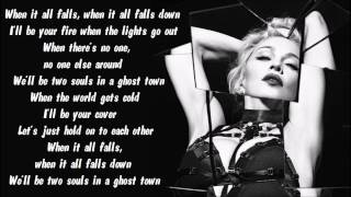 Madonna - Ghosttown Karaoke / Instrumental with lyrics on screen