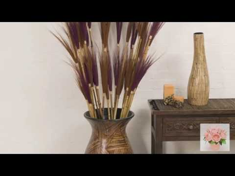 Напольные вазы в интерьере