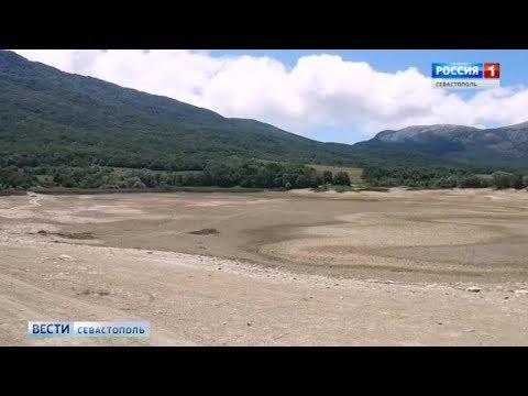 В Байдарской долине обмелел Туристский пруд