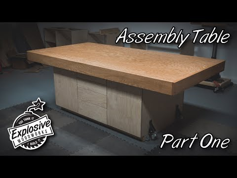 How I Built My Assembly Table w/ Tons of Storage
