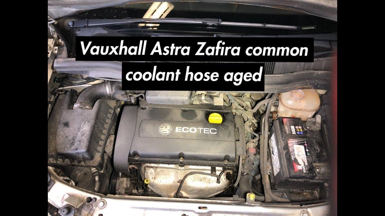vauxhall engine coolant vauxhall astra zafira 1 6 petrol common coolant aged hose youtube  vauxhall astra zafira 1 6 petrol common