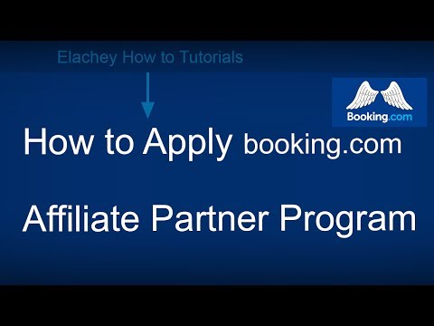 How to Apply booking.com Affiliate Partner Program