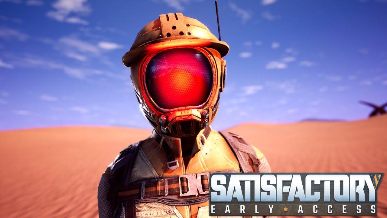 SATISFACTORY ИГРА про строительстиво БАЗЫ на чужой планете - САТИСФАКТОРИ симулятор выживания. 13+